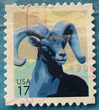 Buy Stamp USA United States of America 2007 Big Horn Sheep - Self-Adhesive 17c