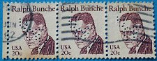 Buy Stamp USA United States of America 1982 Ralph Bunche 20c Strip of 3
