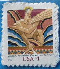 Buy Stamp USA United States of America 2003 Wisdom Statue at Rockefeller Center, New York
