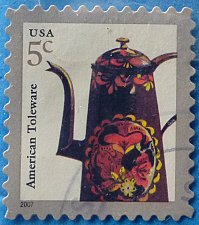 Buy Stamp USA United States of America 2002 Toleware Coffeepot 5c