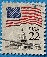 Buy Stamp USA United States of America 1985 -1987 Flag over Capitol 22c