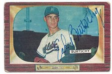 "Buy MLB ED ""MOE"" BURTSCHY KANSAS CITY ATHLETICS Superstar Autographed Card Gd-Vg"