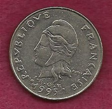 Buy FRANCE 20 Francs 1995 Coin - French Polynesia - Tropical Island