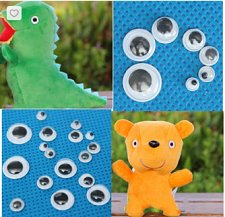 Buy 700pcs wiggly DIY make dolls eyes
