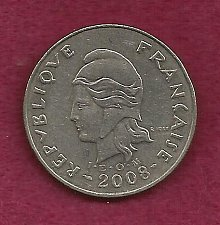 Buy FRANCE 20 Francs 2008 Coin - French Polynesia - Tropical Island