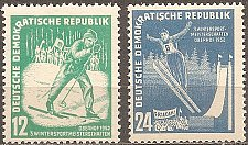 Buy Germany/GDR: Winter Sports Championship (1952) MNH complete 2-value set
