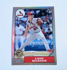 Buy MLB LUKE WEAVER ST LOUIS CARDINALS 2017 TOPPS CHROME 30th ANNIVERSARY REFRACTOR RC MN