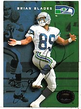 Buy 1992 Brian Blades WR, Skybox trading card 128 Signed -E3