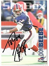 Buy 1992 Don Beebe WR, Skybox trading card 15 Signed - E3