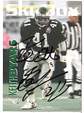 Buy 1992 Keith Byars RB/TE, Skybox trading card 245 Signed - E3
