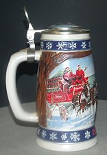 Buy CS263SE 1995Lidded Budweiser Holiday Stein with Box -RS3