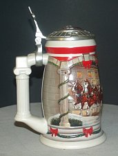 Buy CS455SE 2001 Budweiser Holiday Stein Lidded and in Box -RS9
