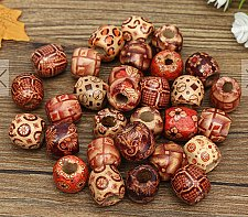 Buy 30PCS wooden button