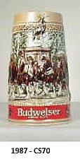 "Buy CS70 - 1987 ""Grant's Farm Gates"" Budweiser Holiday Stein"