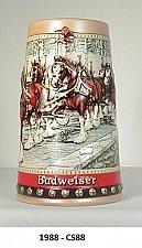"""Buy CS88- 1988 """"Cobbleston Passage"""" Budweiser Holiday Stein"""