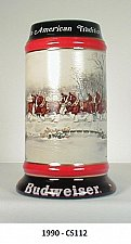 """Buy CS112 1990 """"An American Tradition"""" Budweiser Holiday Stein"""