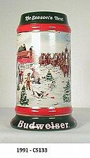 "Buy CS133 1991 ""The Season's Best"" Budweiser Holiday Stein"