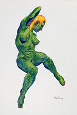 "Buy ""Iguana woman Green"""