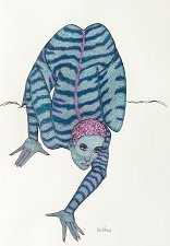 "Buy ""Iguana woman Blue"""