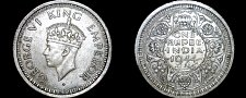 Buy 1944(b) Indian 1 Rupee World Silver Coin - British India - George VI