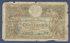 Buy France 100 Francs 1928 Banknote Y20917 - Signature: Le Caissier Principal