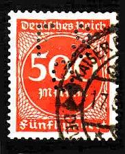 Buy German Used Perfin Scott #233 Catalog Value $6.00