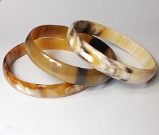 Buy Set of 3 Horn bangle bracelet - Buffalo horn bangle