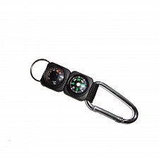 Buy Outdoor Camping Hiking Mini Carabiner Keychain Compass Thermometer
