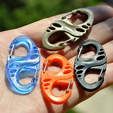 Buy Carabiner Spring Clips Hook Outdoor Survival Keychain EDC Tool Backpack Hanging