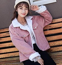 Buy women pink solid coat