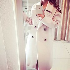 Buy women woolen long coat