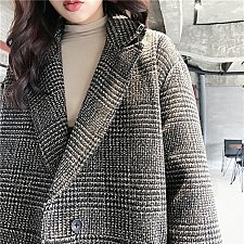 Buy women lapel long jacket