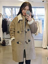 Buy women suede warm coat
