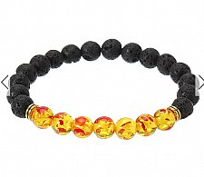 Buy fashion handmade beads lava bracelet