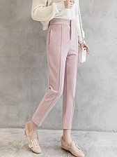 Buy women high waist pink ninth harem parnts