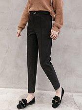 Buy women high waist pink ninth harem parnts black