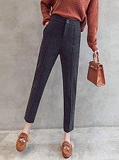 Buy women high waist pink ninth harem parnts gray