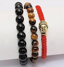 Buy 3pcs buddha beads bracelet