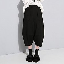 Buy women lantern mid waist pants