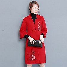 Buy women vintage embroidery coat