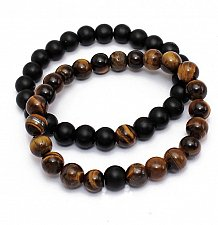 Buy 2pcs tiger eye stone beads bracelet