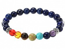 Buy fashion blue with colorful beads bracelet