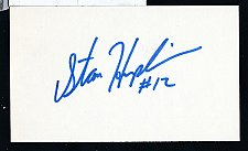Buy Stan Humphries Signed 3x5 Index Card
