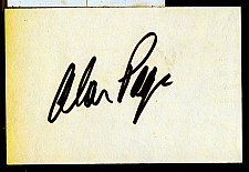 Buy Alan Page Signed 3x5 Index Card