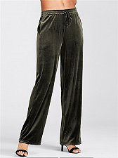 Buy women velvet green long pants