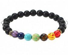 Buy beads bracelet white with black