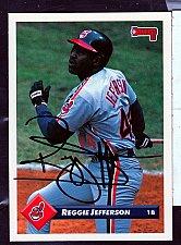 Buy Reggie Jefferson 1B Signed Donruss Trading Card 303