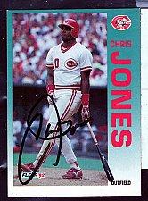 Buy Chris Jones, Outfield, Reds, Fleer Trading Card 410