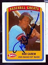 Buy Rod Carew, 2B, 1B Twins & Angels, Swell Greats Card 4