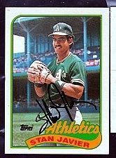 Buy Stan Javier, OF, Athletis, Topps Trading Card 622